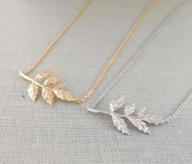 Leaves Necklace(choose one color)