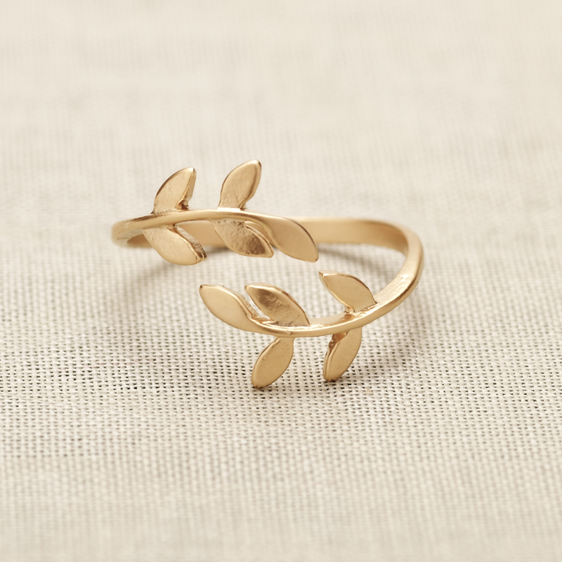 bay leaf ring in gold only on luulla