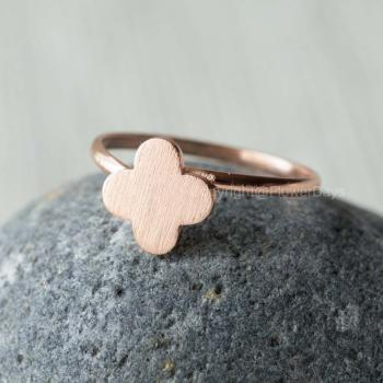 Cute Clover adjustable ring in Rose gold